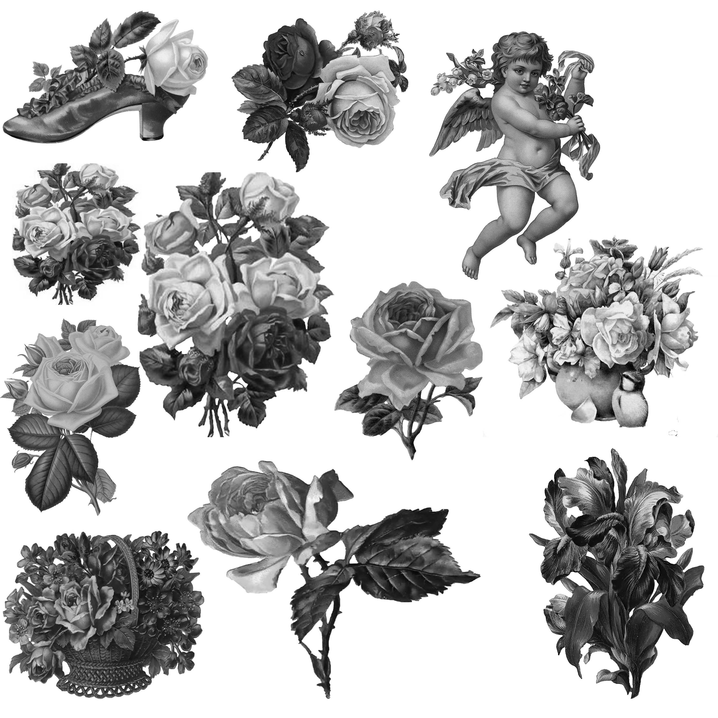 кисти цветов для фотошопа:
